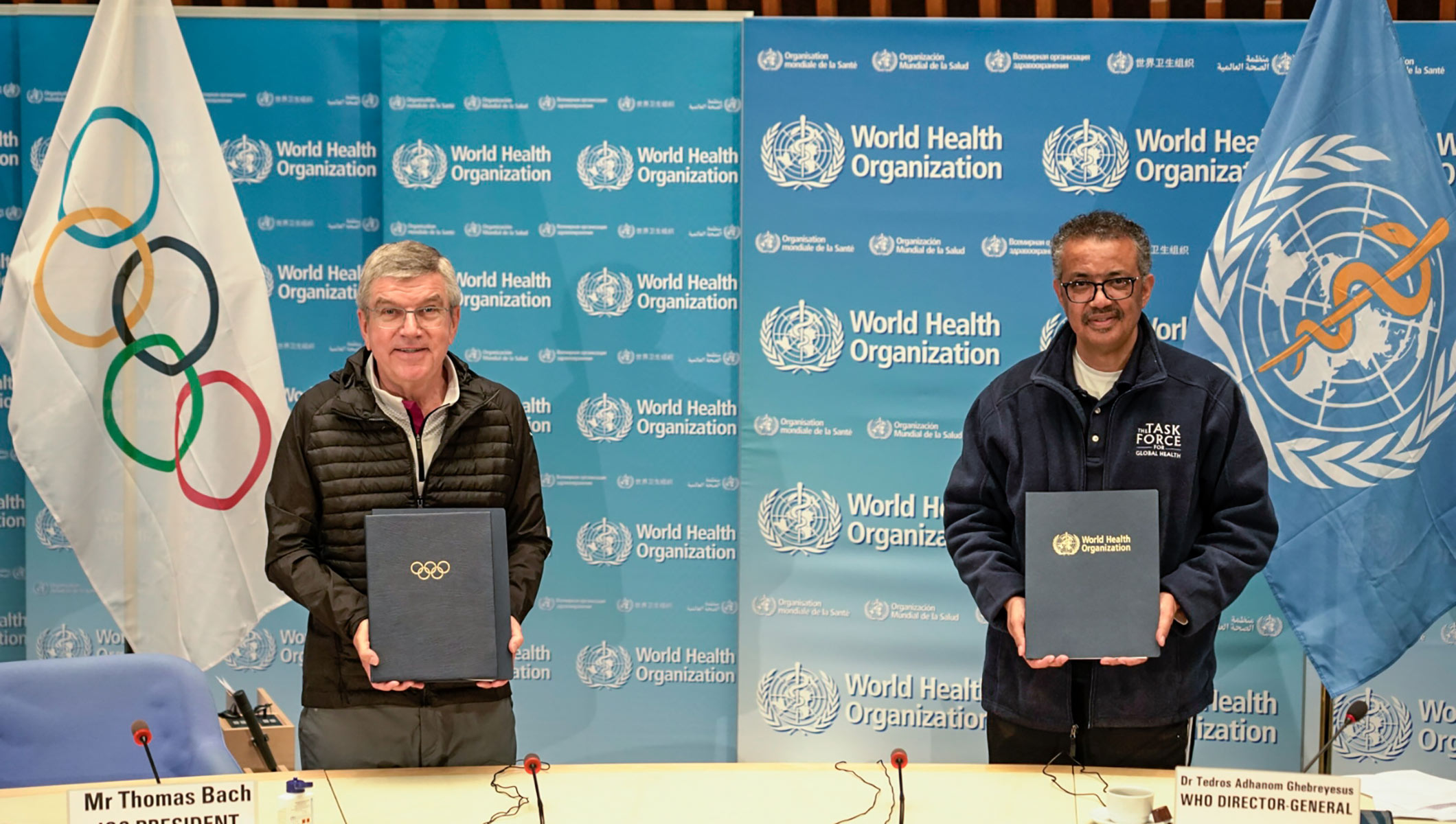 IOC AND WHO STRENGTHEN TIES TO ADVOCATE HEALTHY LIFESTYLES