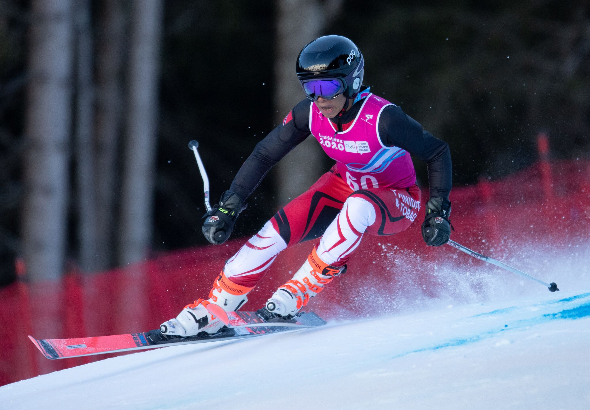 Abigail Vieira competed in the Alpine Skiing Giant Slalom event today.
