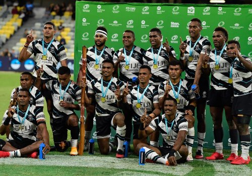 Fiji's Olympic rugby team hitched a ride to Tokyo on a cargo flight with frozen fish